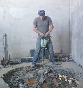 удаление бетонной стяжки