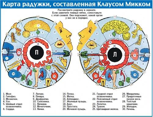 карта глаза