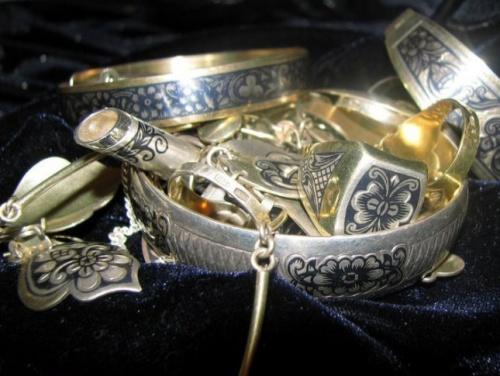 серебряные украшения с чернением